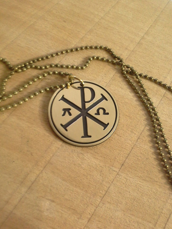 Chi Rho And Constantine Cross Alpha And Omega Christian