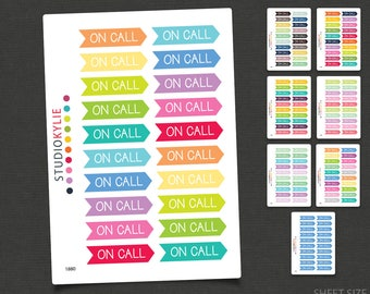 On Call - Planner Stickers - Removable Matte Vinyl