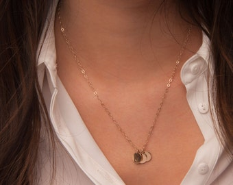 Small Gold Initials Necklace, Initial Necklace Gold, Circle Necklace Personalized Pendant, Initial Engraved Tags, Personalized Disks Gold