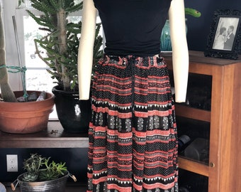 1970's vintage maxi skirt//dress
