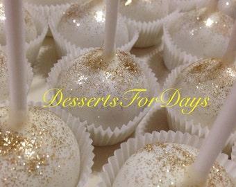 1Dz. Glitter Cake Pops. Bling Cake pops. Wedding Favors. Party Favors. Bridal Shower. Dessert Table. Sparkly Cake pops.