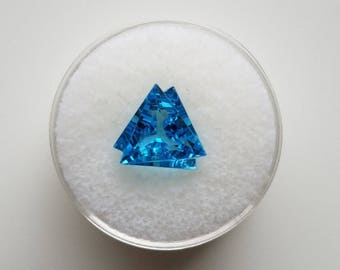 Electric Blue Topaz Fantasy Cut [Heat Treated]