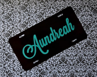 Monogram License Plate - Custom Personalized Front Car Tag with Name