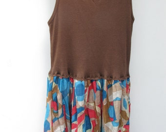 Brown Tank Floral Dress