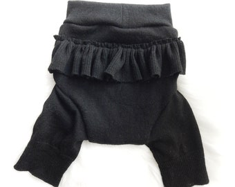 LARGE- Black Ruffle-bum Shorties