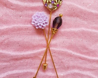 "3 pcs Hijab Pin Set ""Lilac"""
