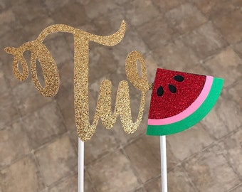 Watermelon Cake Topper -- Sandia Cake Topper -- Watermelon Party --