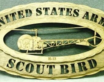 "Custom 8x12"" Wood US Army Scout Bird Wall Tribute"