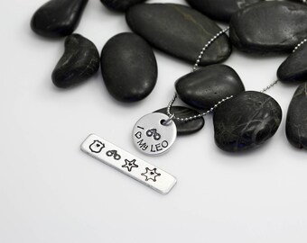 I Love My LEO Hand Stamped | Custom | Necklace