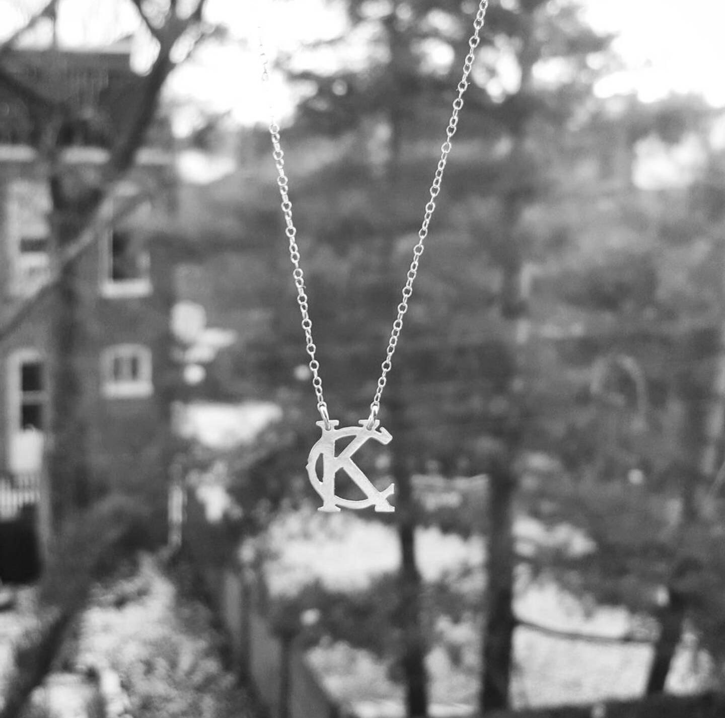 Kansas City necklace small KC pendant necklace