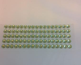 Rhinestone 5 mm Green stickers scrapbooking STICKERS
