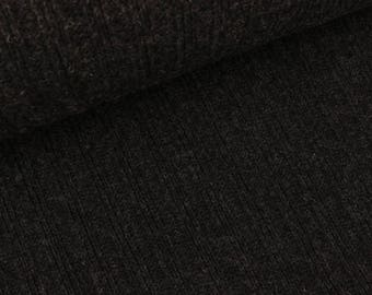 Rib knit fabric Victoria anthracite (€ 34.50 per meter)