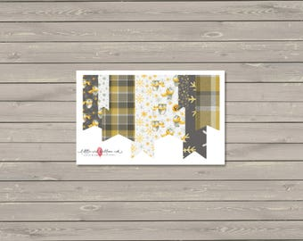 Winter Owls Washi Banner