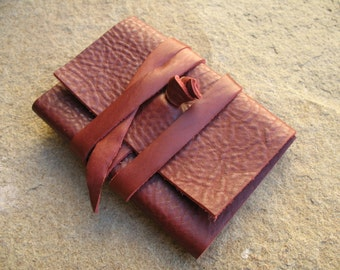 Leather address book 10,5x6,8 cm leather notebook leather sketchbook