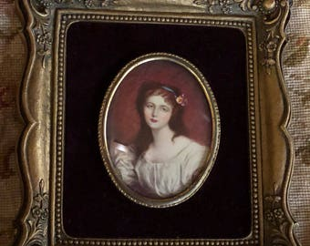 French Country Victorian Cameo Lady picture Frame