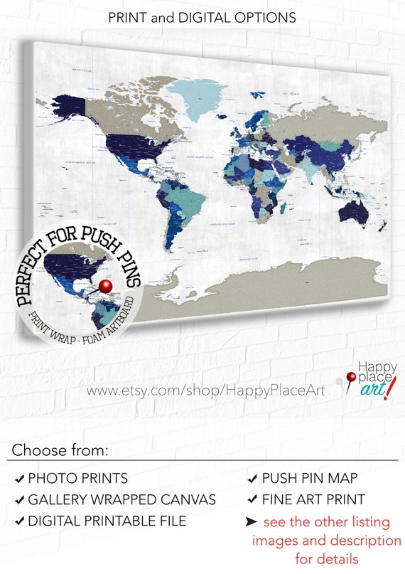 Detailed political map world map map with country borders detailed political map world map map with country borders capital cities suit travel push pin map pushpin world map world map canvas art gumiabroncs Image collections