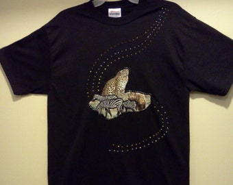 Hand Crafted  Custom  Apploidery T-Shirt