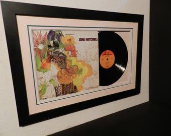 Joni Mitchell,1st,lp framed
