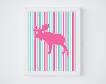 moose print // 8x10 print // wall decor