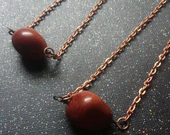 Goldstone tumble stone necklaces