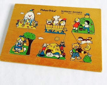 Wood puzzle / Fisher Price / vintage