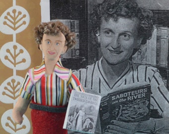 Mildred Wirt Benson- Carolyn Keene- Writer Doll- Art Miniature-  Author of Nancy Drew-Teen Book Author