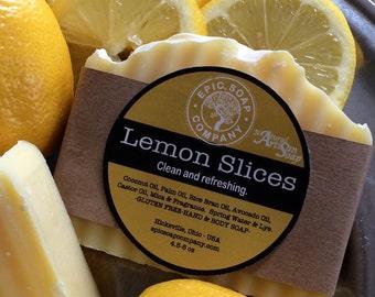 LEMON SLICES-Soap-Vegan-Gluten Free-