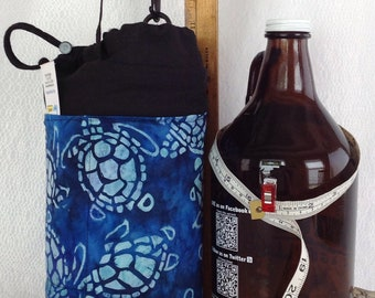 Insulated Tote blue sea turtles for growler containers