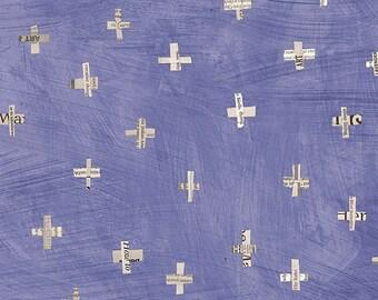 Windham Dreamer Carrie Bloomston Flying Birds Cross Sky Periwinkle Purple Fabric BTY 42573-10