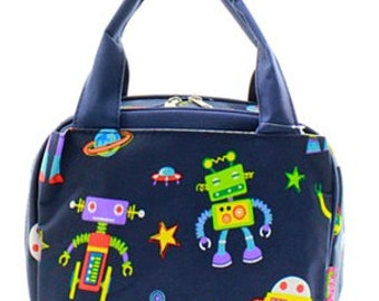 Personalized Boys Insulated Lunch bag-ROBOTS Lunch Bag