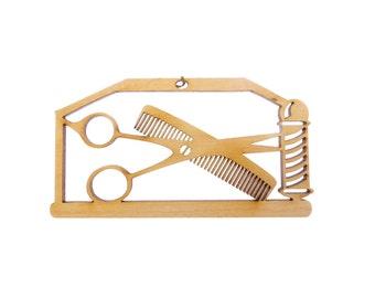 Barber Ornament - Barber Gift - Barber Ornaments - Barber Gifts - Barber Pole Ornament - Gift for Barber - Personalized Free