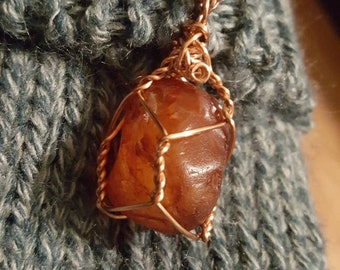 Red Carnelian necklace/Stone of courage/Pagan Ritual jewelry/Metaphysical Healing Crystals and Stones/Wire Wrapped Gemstones/PNW Carnelian