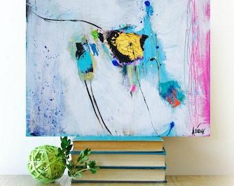 "Original art on canvas, art decor, office decor, abstract art, artwork on canvas, 16x20"""