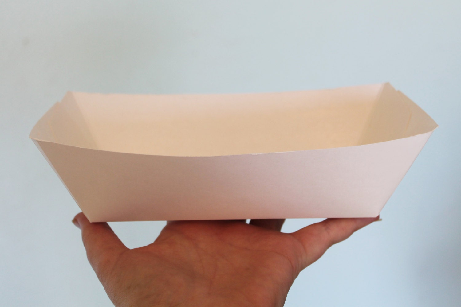 Paper Food Trays 25 Extra Large 5# lbs White Paper Food Trays Snack Box Concession supplies Paper Party Plates Paper wedding kraft tray & Paper Food Trays 25 Extra Large 5# lbs White Paper Food Trays ...