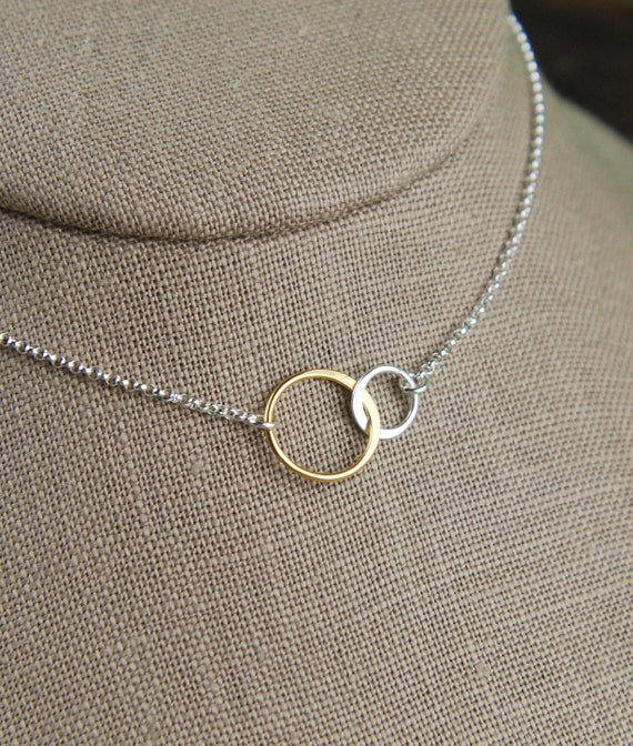 Two Linked Rings Necklace
