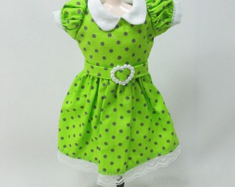 Blythe Outfit Handcrafted polka dots dress basaak doll # 900-4