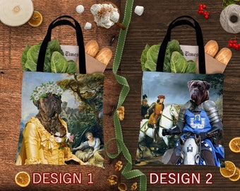 Bullmastiff Dog Tote Bag Art Bullmastiff Portrait Personalized Dog Tote Bag Perfect Gift for Her Gift for Him
