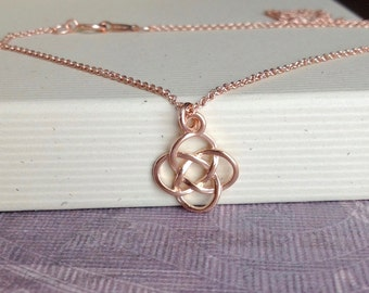 Gold knot necklace Etsy