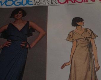SALE Vintage 1970's Vogue 1424 Paris Original Chloe Sewing Pattern, Size 10 Bust 32 1/2