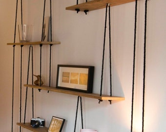 Suspended shelves-Hanging shelves-étagères suspendues - Sur mesure.