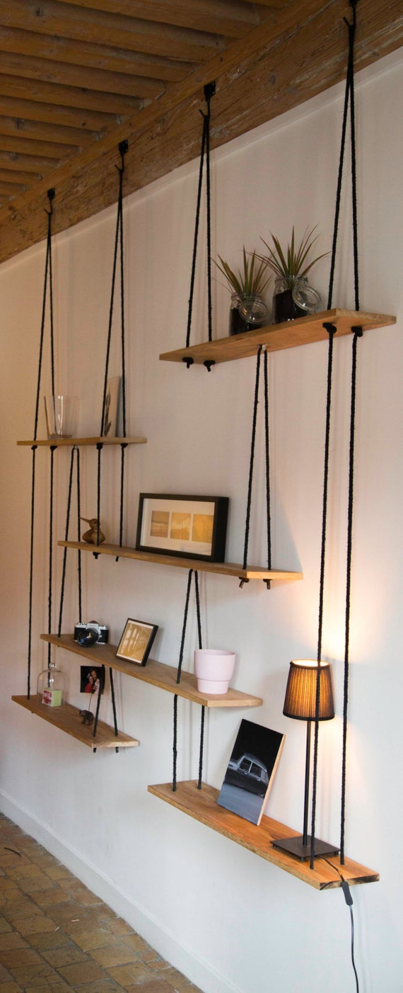 suspended shelves tag res suspendues sur mesure. Black Bedroom Furniture Sets. Home Design Ideas