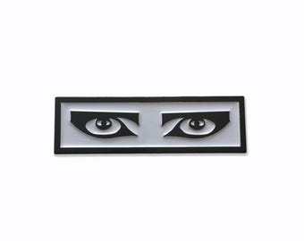 Goth Eyes Enamel Pin - 1.5""