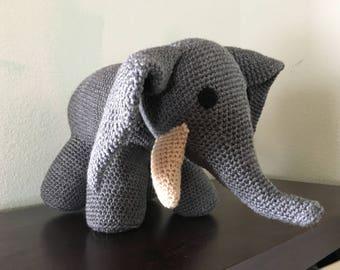 Soft, large, crochet Elephant