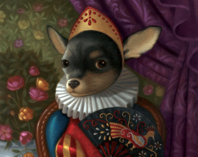Chihuahua Art Print Illustration Nature