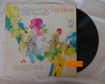 "Diana Ross ""Join the Temptations & the Supremes"" Vinyl LP Record 33 RPM"