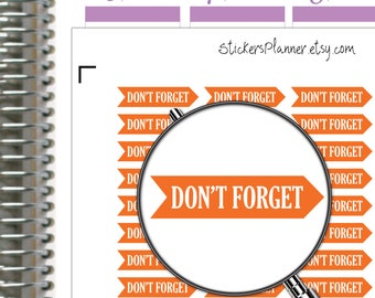 Don't Forget Stickers Don't Forget Planner Functional Planner Don't Forget Header Stickers Erin Condren Stickers Rainbow Stickers n17