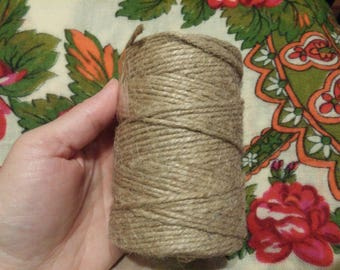 200 m of natural jute twine. Ecology is 100%. Natural jute twine, decorative cords, wedding decor, rustic home decor, made in Ukraine