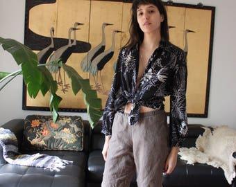 Vintage Lanvin Sheer Button Down Blouse