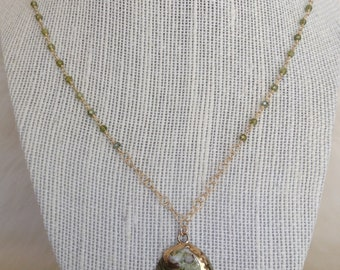 Green Shell Pendant necklace