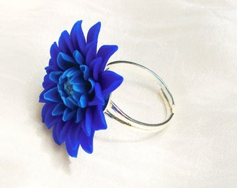 Chrysanthemum Flower Ring, Floral Jewelry